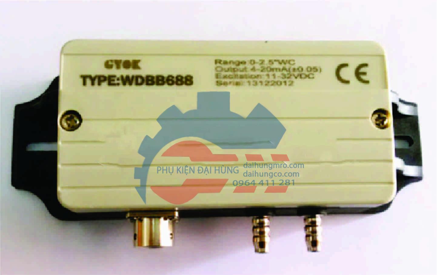 WDBB688 cảm biến áp suất máy chải