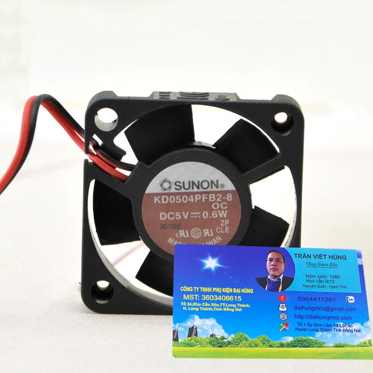 SUNON KD0504PFB2-8 5V 0.6W 4CM 4010