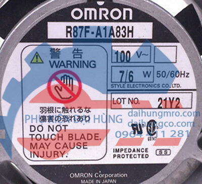 OMRON 80*80*25MM 100V 7/6W R87F-A1A83H