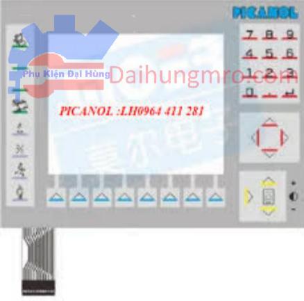 Tấm dán nút ấn điều khiển màn hình PICANOL