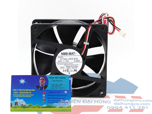 NMB 4715KL-05W-B49, 24VDC, 0.46A