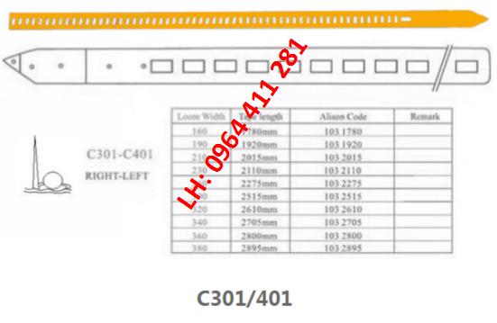 Dây kiếm máy dệt VAMATEX C301/C401