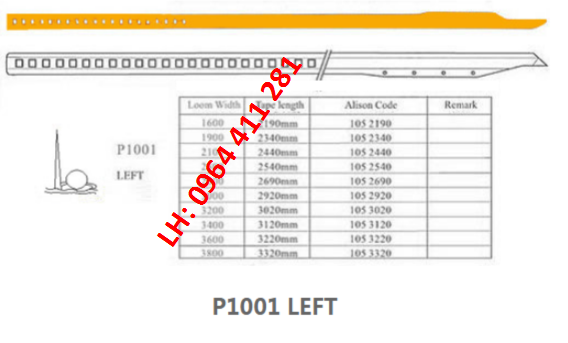 Dây kiếm máy dệt VAMATEX C201/C301