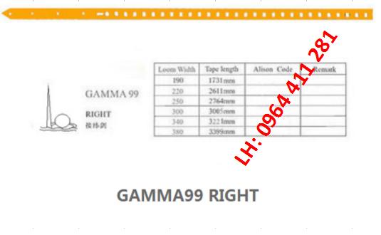 Dây kiếm máy dệt GAMMA99